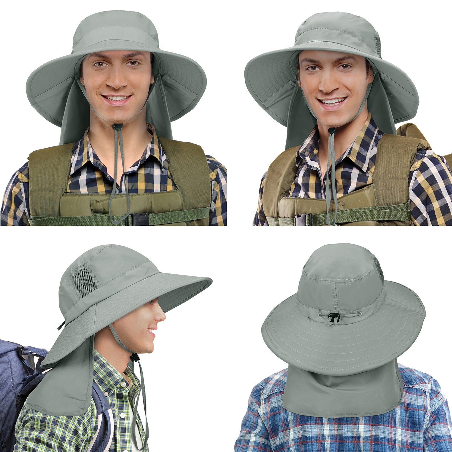 Lovely Greeting Christmas Deer New Summer Unisex Cotton Fashion Fishing Sun Bucket Hats for Kid Teens Women and Men with Customize Top Packable Fisherman Cap for Outdoor Travel