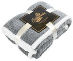 Throw Blankets with Sherpa Fleece Reversible for Couch & Bed