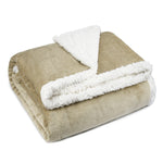Sherpa Throw Blanket for Bed or Couch