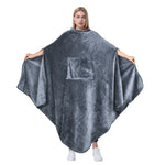 Fleece Wearable Blanket Poncho for Adult Women Men
