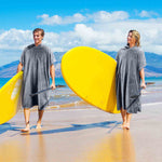Water Absorbent Sand Proof Wearable Hooded Beach Surf Towel Poncho