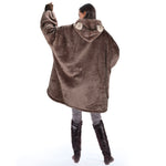 Bear Oversized Hoodie Blanket for Adults