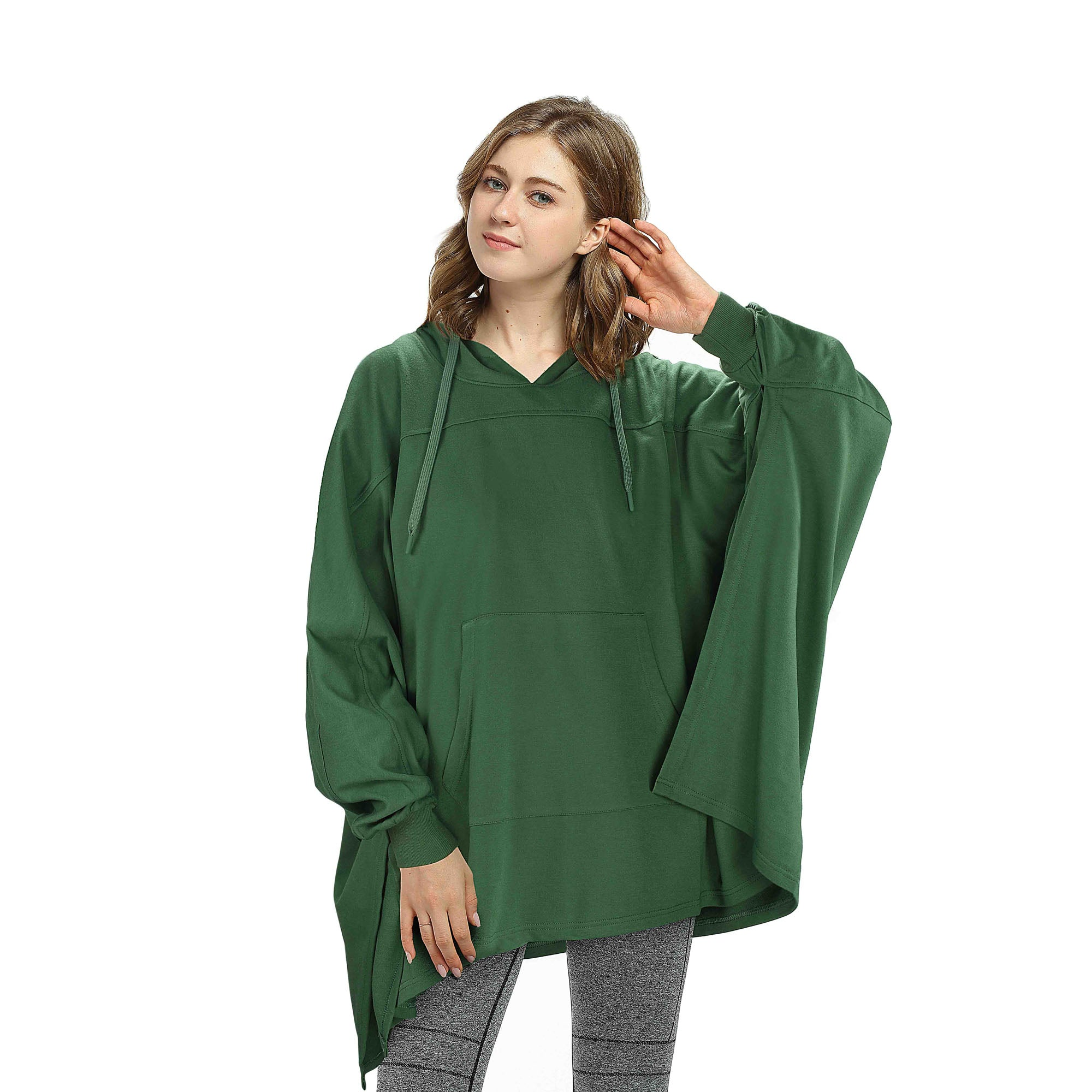 Oversized Hoodie Sweatshirt Poncho for Women