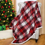 Throw Blanket Plaid Sherpa Micro Fleece Reversible
