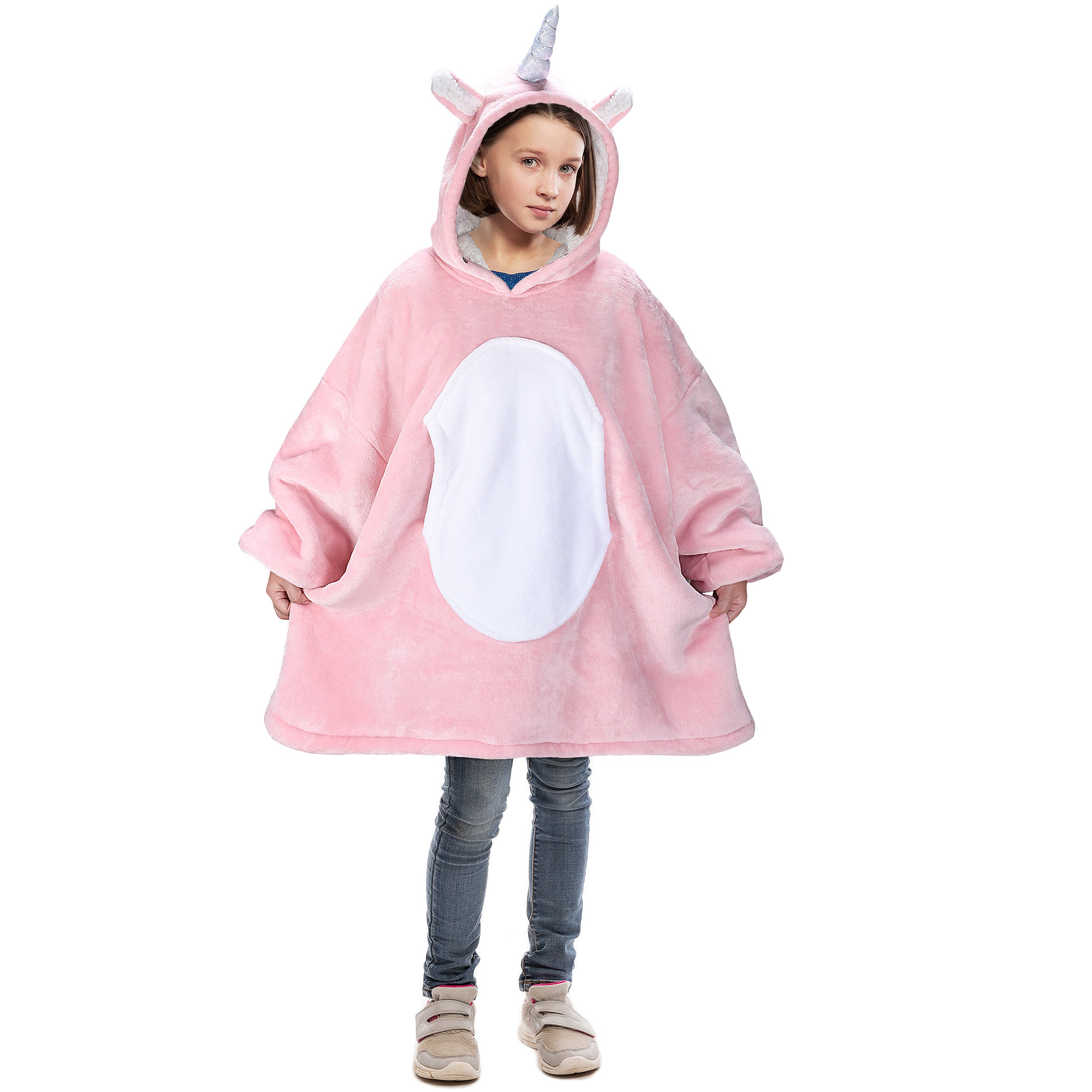 Unicorn Oversized Hoodie Blanket for Adults