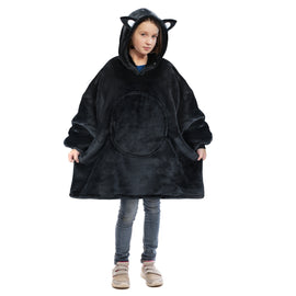 Cat Oversized Hoodie Blanket for Adults