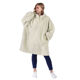 Oversized Blanket Hoodie Sweatshirt with Zipper for Women