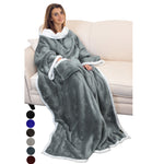 Wearable TV Blanket with Sleeves Arms  Plush Sherpa Fleece