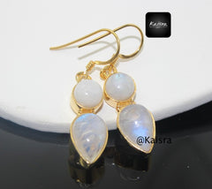 moonstone gold vermeil earrings