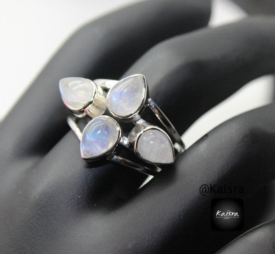 Moonstone 925 Sterling Silver Ring