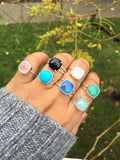 SALE Gemstone Rings, Birthstone Rings, Sterling Silver.