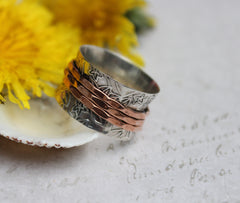Meditation Spinner Ring - Sterling Silver