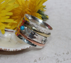 Meditation Spinner Ring Sterling Silver
