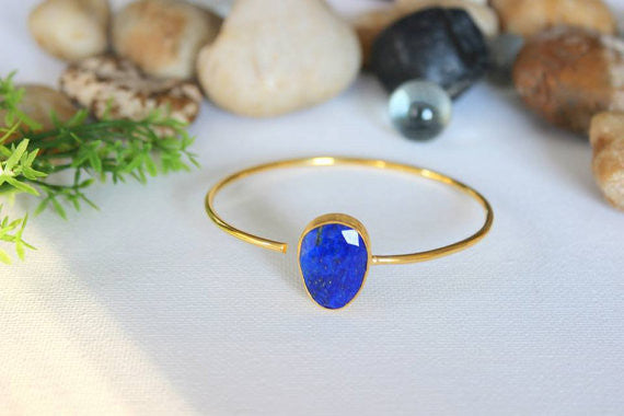 Gemstone Bangle, Stacking Bangle, Personalized Bangles
