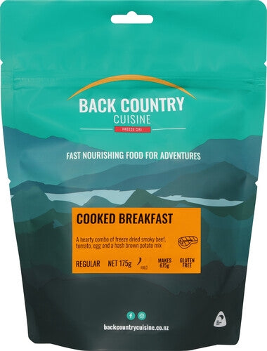 Back Country Cuisine : Cooked Breakfast - Gluten Free - 2 Serve (Regular)