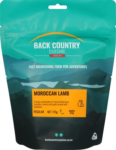 Back Country : Moroccan Lamb  - Gluten Free -2 Serve (Regular)