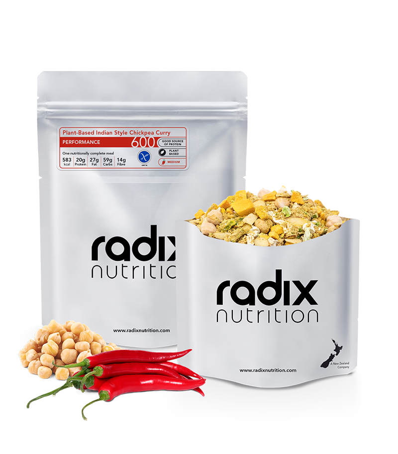 Radix Nutrition : PERFORMANCE 600 | Plant-Based Indian Style Chickpea Curry | Single Serve
