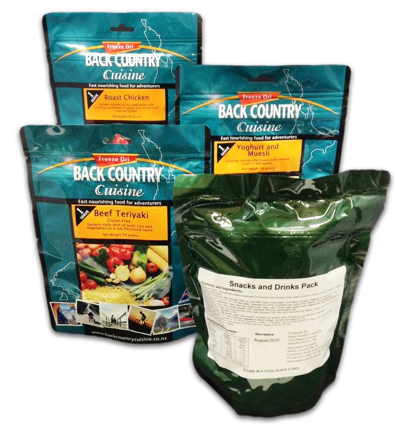 Back Country Cuisine : Adventure Ration Pack