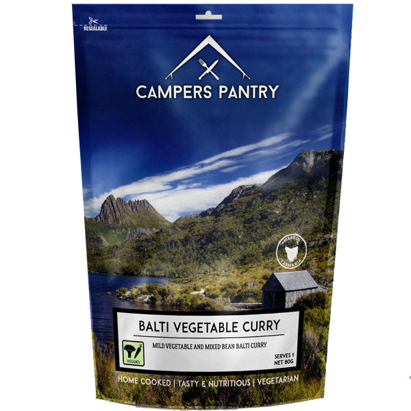Campers Pantry : Balti Vegetable Curry - 1 Serve