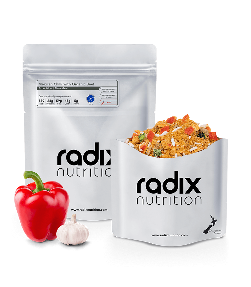 Radix Nutrition : EXPEDITION 800 | Mexican Chilli with Organic Beef | Single Serve