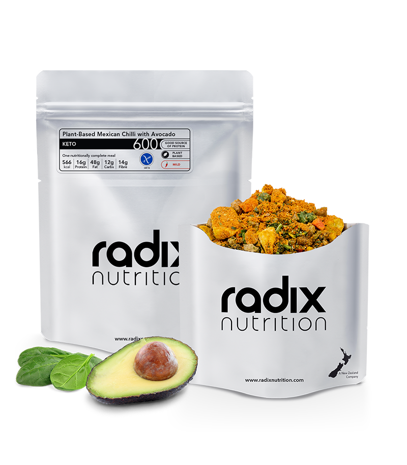 Radix Nutrition : KETO 600 | Plant-Based Mexican Chilli with Avocado | Single Serve