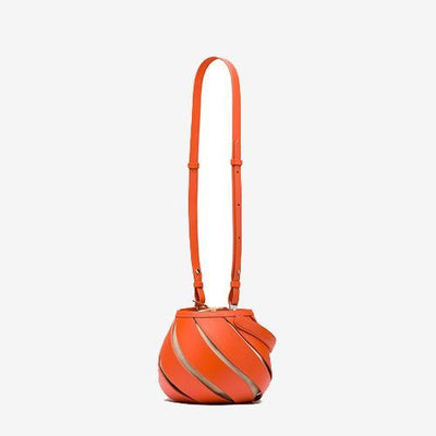 Art-Meets-Style Bucket Bag Orange