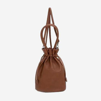 Shika - Brown Bucket Handbag - perfectein.com