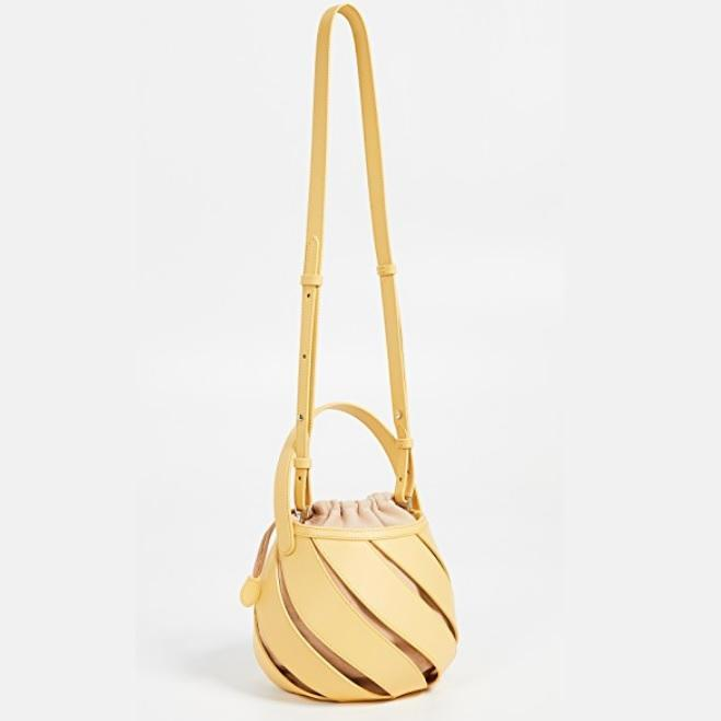Art-Meets-Style Bucket Bag Yellow