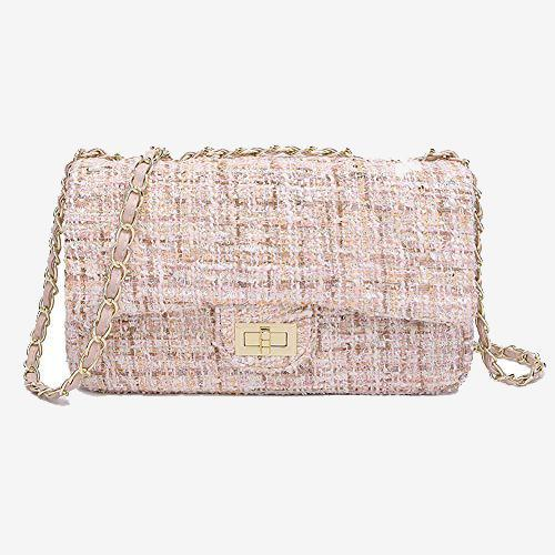Camille Tweed Crossbody Bag with Chain