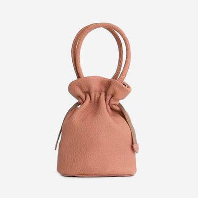 Shika - Coral Mini Bucket Handbag - perfectein.com