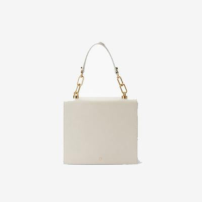 Florence Crossbody Accordion Satchel White