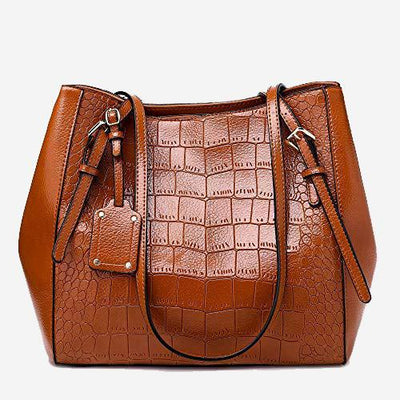 Hailey Shoulder Bag Croc Effect Embossed