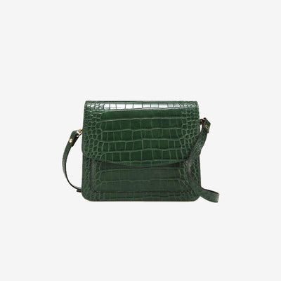 La Seine - Vegan Leather Mini Flap Bag Glossy Croc