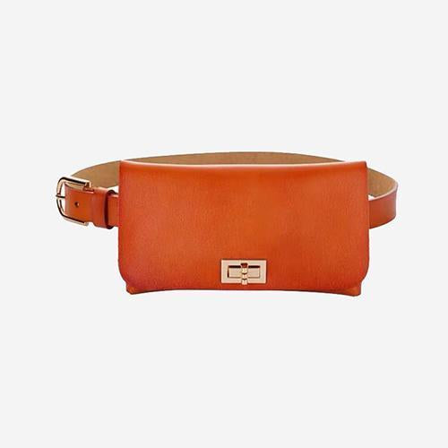 Lilac Leather Fanny Pack Belt Bag - perfectein.com
