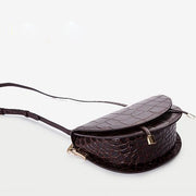 Lyla Croc Saddle Bag