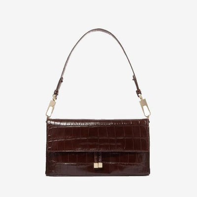 Lyla Office Shoulder Bag Croc Effect