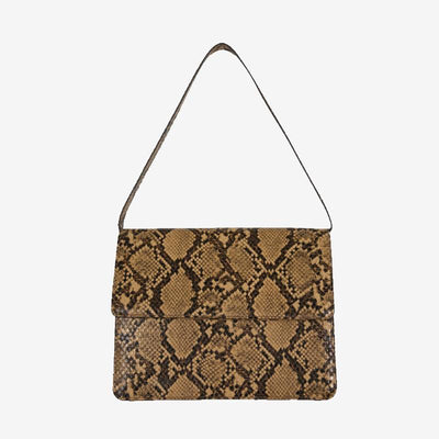 Serena Snakeskin Square Flap Bag