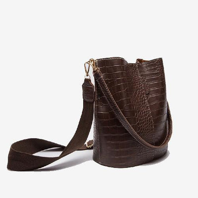 [New] Sophie Bucket Bag Brown Croc