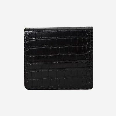 The Modern Times - Vegan Leather Mini Flap Bag Glossy Black Croc Upgraded - perfectein.com