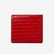 The Modern Times - Vegan Leather Mini Flap Bag Glossy Red Croc - perfectein.com