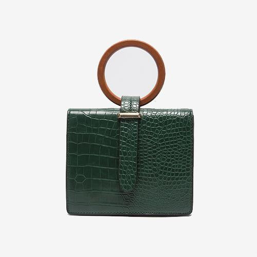 The Multifunctional Croc Top Handle Crossbody Bag