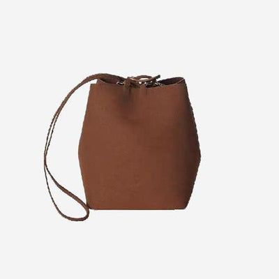 Bella Bucket Bag Matte Dark Brown - perfectein.com