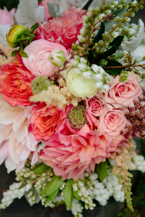 Wedding Story: Tess and Nick's Bigfork, Montana Wedding - Bridal Bouquet - from Piece of Cake Wedding Decor