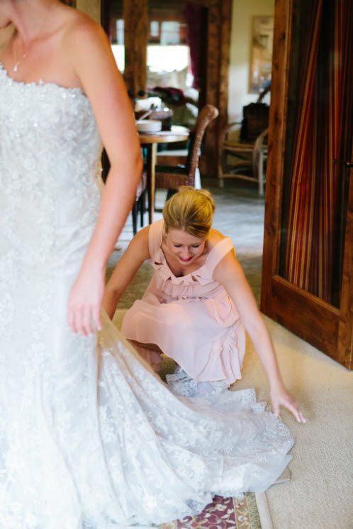 Wedding Story: Tess and Nick's Bigfork, Montana Wedding – Bride Getting Ready – from Piece of Cake Wedding Decor