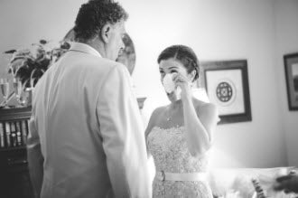 Wedding Story: Tess and Nick's Bigfork, Montana Wedding – First Look – from Piece of Cake Wedding Decor