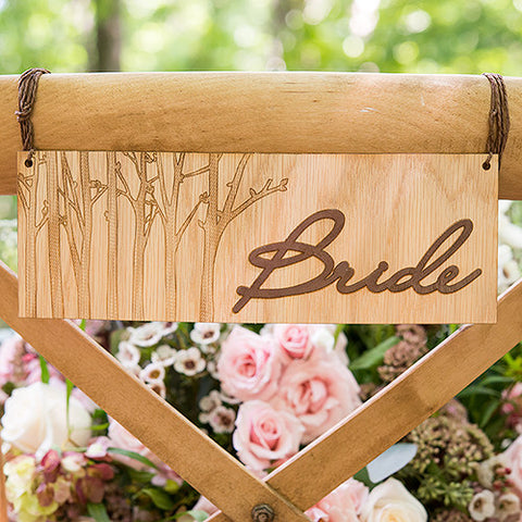 Bride and Groom Chair Markers