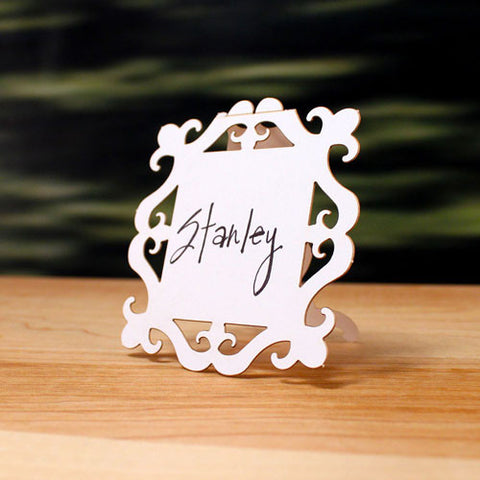 Square Baroque Wedding Place Card