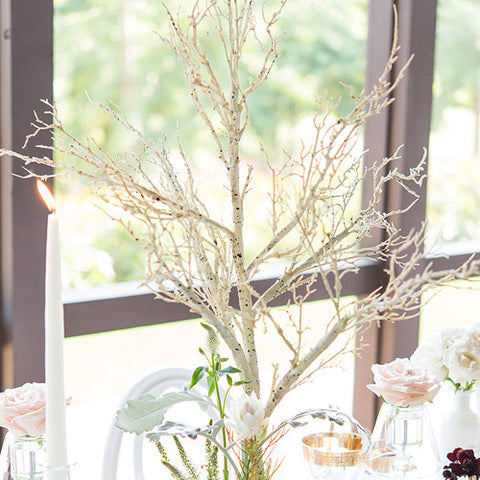 Artificial Birch Branch Centerpiece