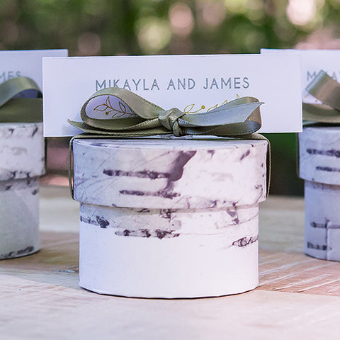 Birch Wedding Favor Boxes