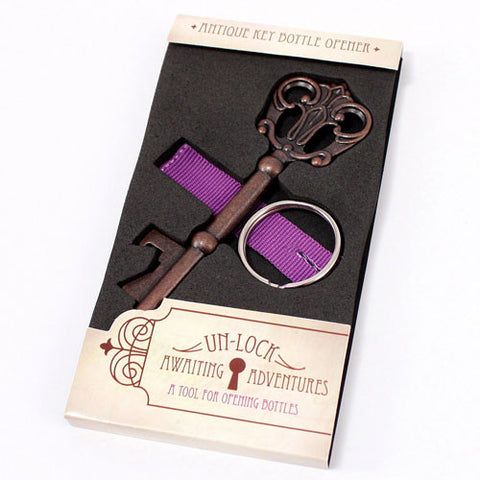 Antique Style Key Bottle Opener in Gift Packaging - Vintage Wedding Favors
